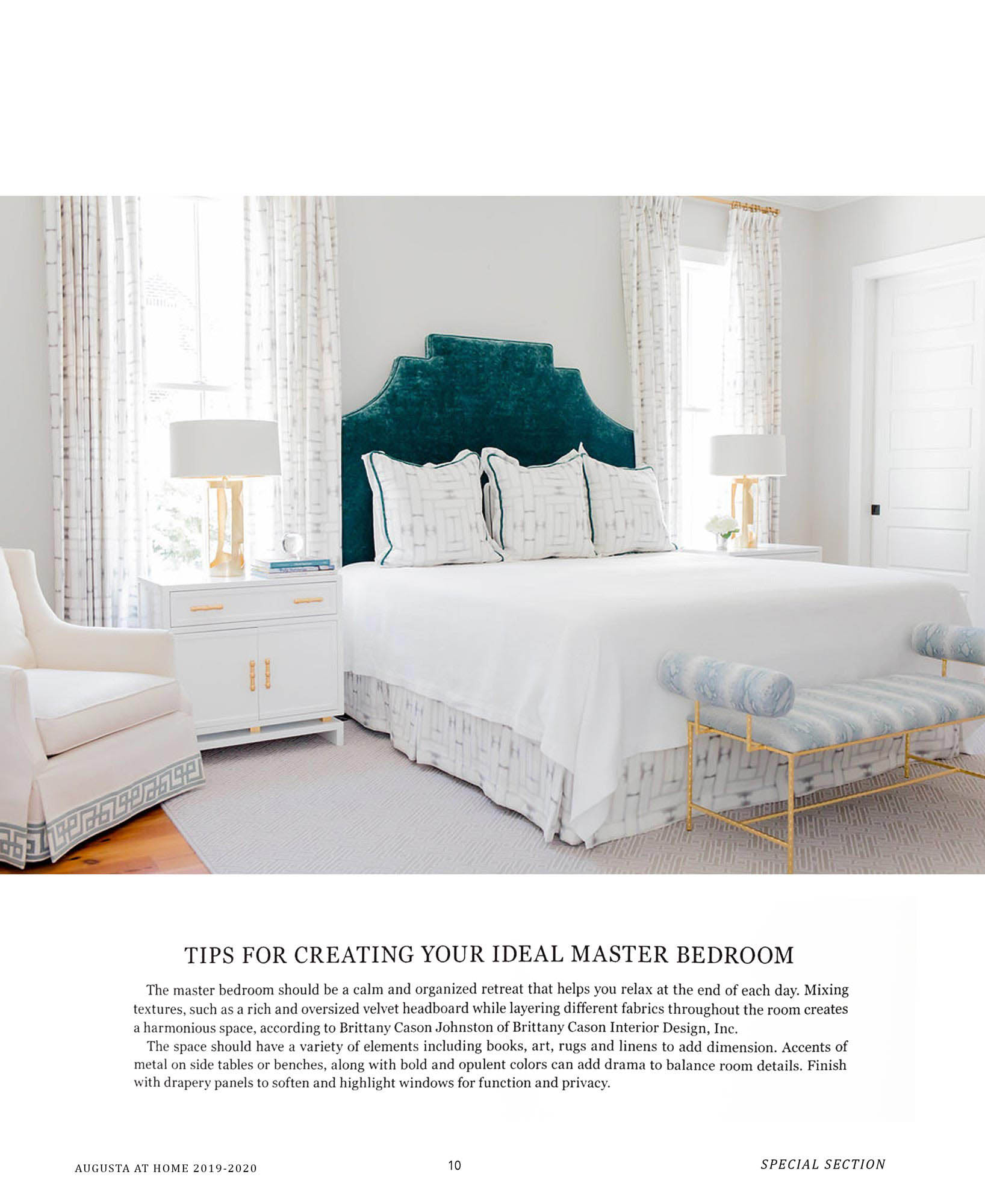 Augusta Magazine Sep 19 Brittany Cason Interior Design