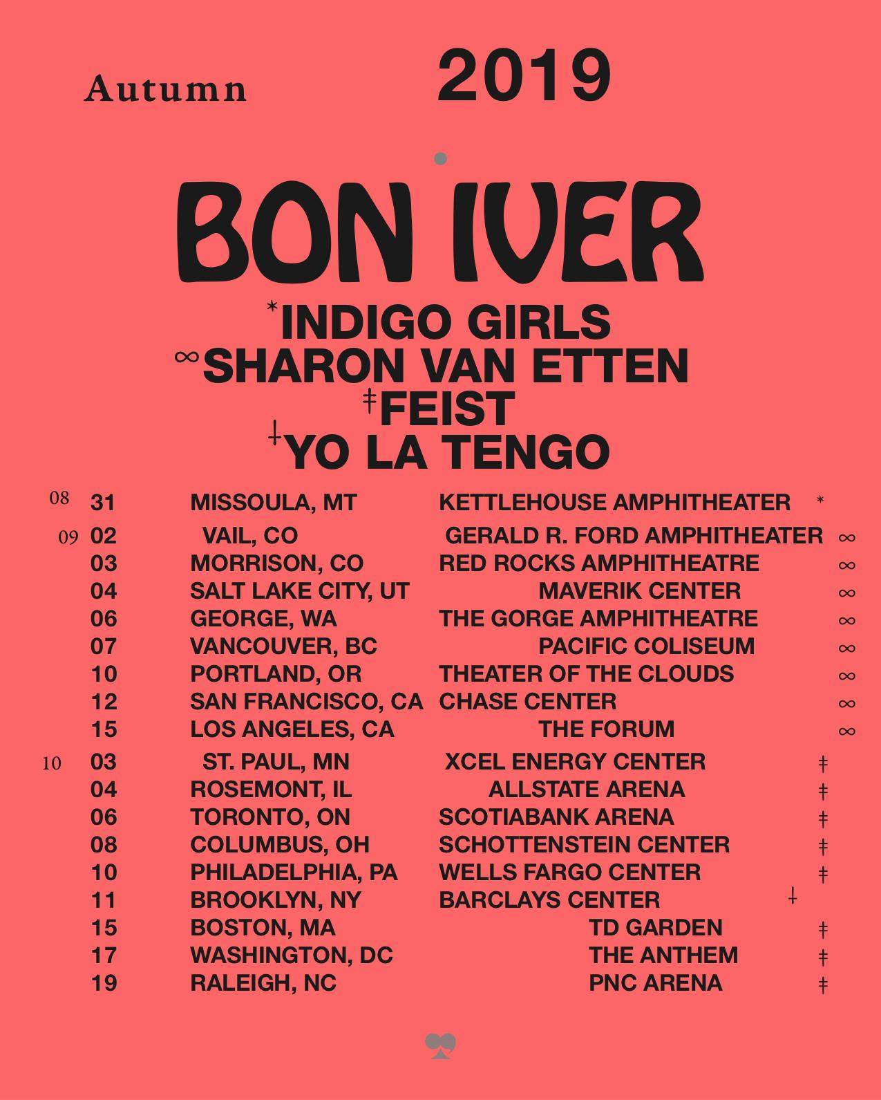 Bon Ivers Tour | Asdela