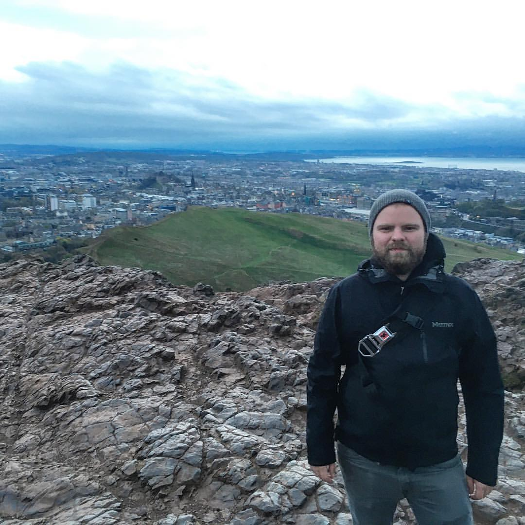 Overlooking Dublin Ireland after hiking the  West Highland Way