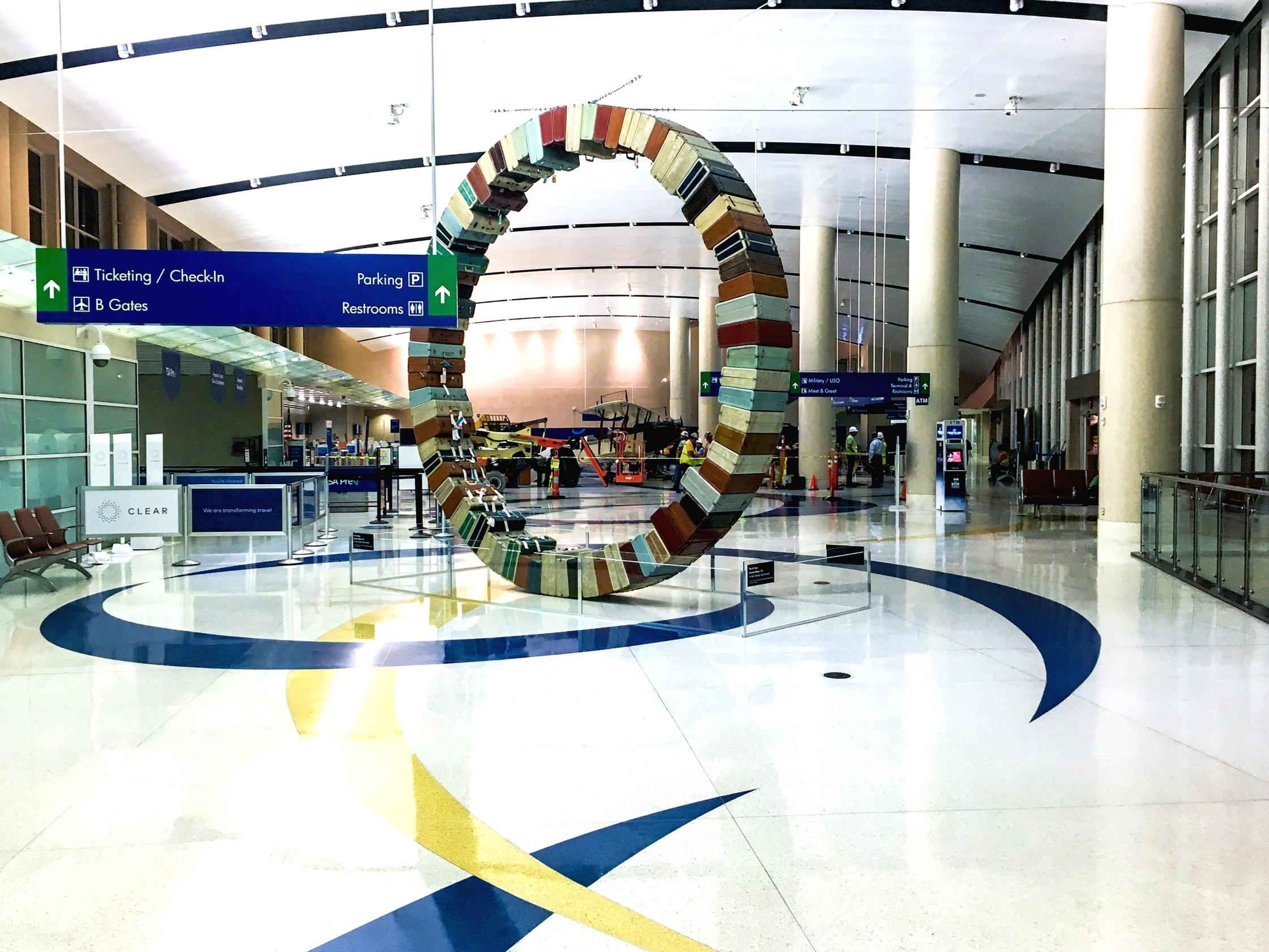 COSA Airport Jenny Aircraft Display