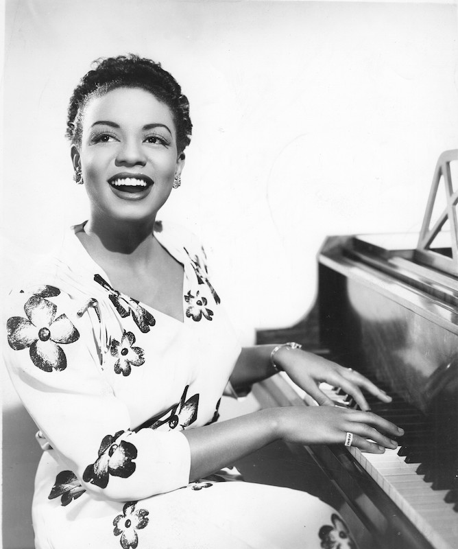Hazel Dorothy Scott ca 1950 by Gilles Petard-Redferns. Getty Images via Time Magazine:  This Piano Prodigy Was the First African-American Woman to Host Her Own TV Show