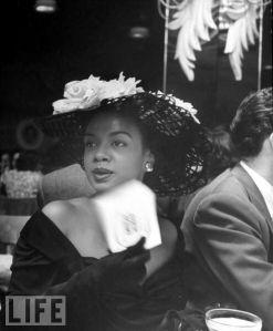 Pianist Hazel Scott at Bop City on opening night. April 1, 1949 via Getty Images
