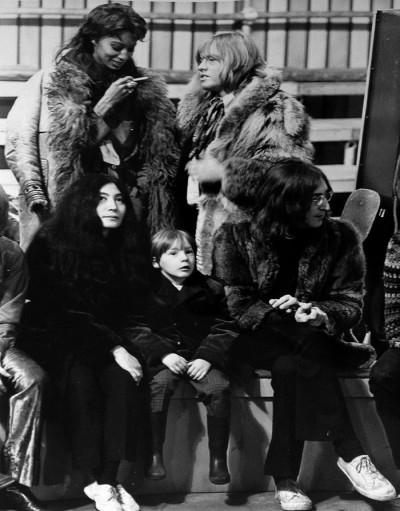 John and Julian Lennon, Yoko Ono, Rolling Stones Guitarist, Brian Jones with Luna, 1968
