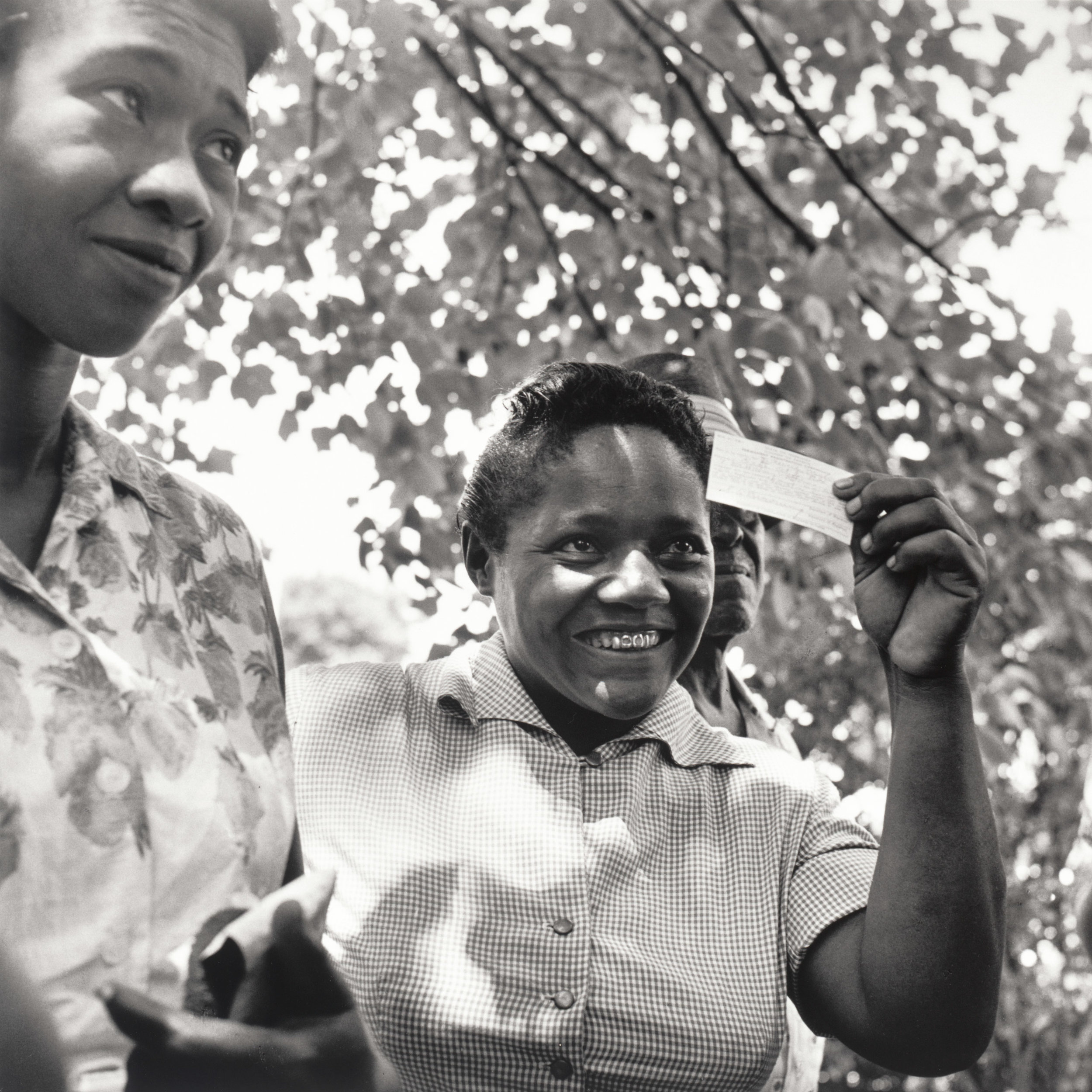 Young woman with voter registration card, Fayette County via Time Magazine