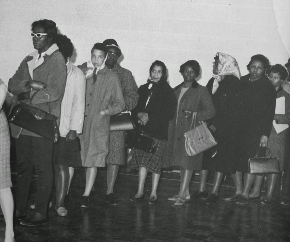 Women voting in Baltimore via SNCC.org