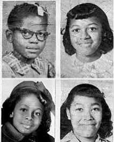 #Onthisdayinhistory September 15, 1963 we mourn the loss and remember the lives of 4 young girls who were murdered in the racist terrorist bombing of 16th st. Baptist church in Birmingham Alabama. (From left to right) Addie Mae Collins, and Cynthia Wesley 14, Denise McNair, 11, and 14 year old Carole Robertson died in the blast. A 5th little girl, Sarah Collins Rudolph, aged 12, survived. She was sprayed with glass, hospitalized for months, and eventually lost an eye. This day reminds us of the innocent casualties in the fight for Civil Rights. 📸: CNN, TIME . . . . . . . . . . . #civilrights #16thstreetbaptistchurch #victims #terrorism #alabama #birminghamalabama #blackhistory #history #americanhistory