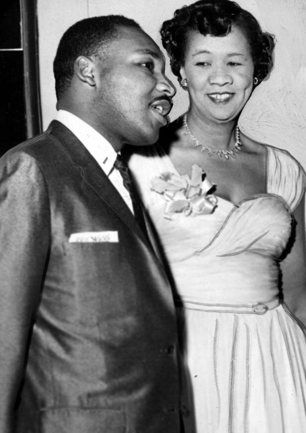 Dorothy Height with Martin Luther King Jr. via wiki commons