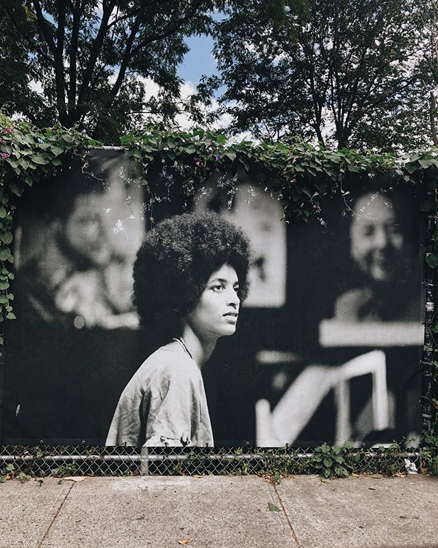 "In honor of #latinxheritagemonth we spotlight Activist and professor Denise Oliver-Velez who served as the Minister of Economic Development  and the first female leader of the Young Lords in the 1970s at the New York Headquarters. The Young Lords were a Puerto Rican radical activist group that fought to take back Chicago and New York by promoting self determination for Latinx people and against racial discrimination and inequality. The group was influenced by The Black Panthers and were made up of Young Latinx Univeristy students. They fought against sanitation neglect of East Harlem and racism in the Bronx Hospital which eventually led to the Patient Bill of Rights. Like many movements, the female Young Lords experienced sexism within the group. Oliver-Velez describes this Revolutionary Machismo as ""the oxymoron of the century.."" Along with being a member of The Young Lords Oliver-Velez was also a member of the Black Panther party.  She is currently a professor of Anthropology at SUNY New Paltz. ✨ To see this photo and the exhibition Mapping Resistance visit 111th St and Madison in East Harlem 🇵🇷 . . . . . . . . #afrolatina #africanamericanhistory #latinxhistory #younglordsparty #puertoricanresistance #1970sresistance #civilrightsmovement #1980s #mappingresistance #eastharlem #elbarrio #spanishharlem #newyorkhistory #historyofresistance"