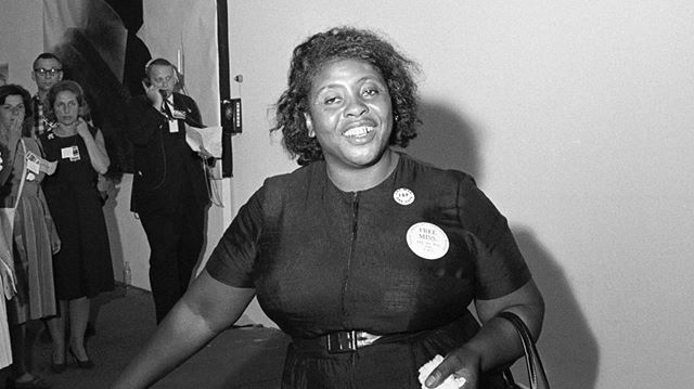 """If I fall, I'll fall five feet four inches forward in the fight for freedom. I'm not backing off."" Happy Birthday to Civil Rights icon and legend Fannie Lou Hamer who was born #onthisdayinhistory , October 6, 1917. 📸: Bettmann/Corbis . . . . . . . . . . #history #americanhistory #womeninhistory #fannielouhamer #civilrightsmovement #womensrights #blackhistory #africanamericanhistory #blackwomeninhistory"