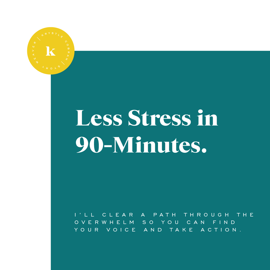 Less stress in 90 minutes - Krystle's Connection Shop - krystlecobran.com