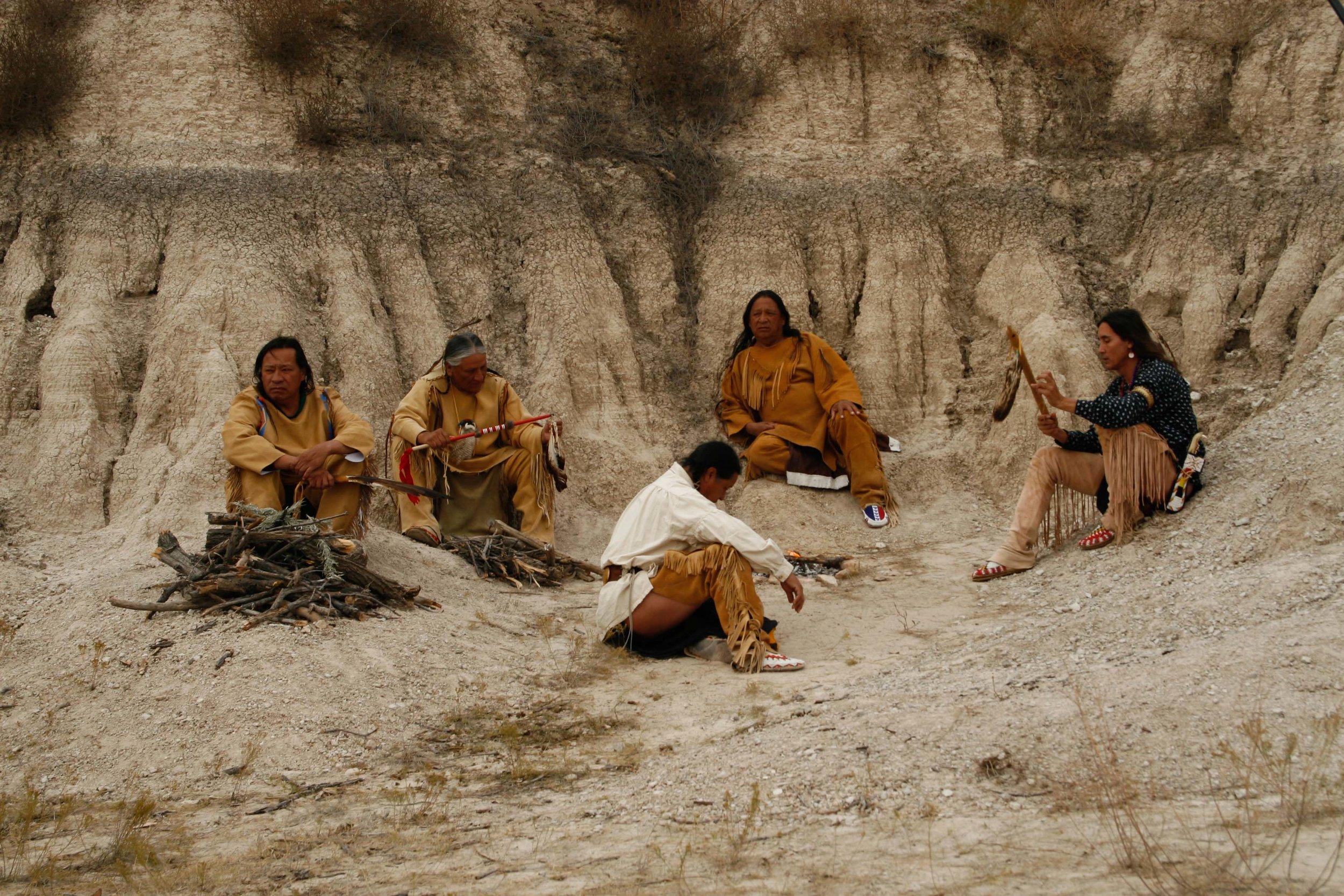 ben-red-bear-indian-elder-corbin-conroy-little-thunder-larry-swalley-minor-running-cloud-albert-red-bear-red-wolf-steve-garcia-charlie-littlefeather-campfire-scene.jpg