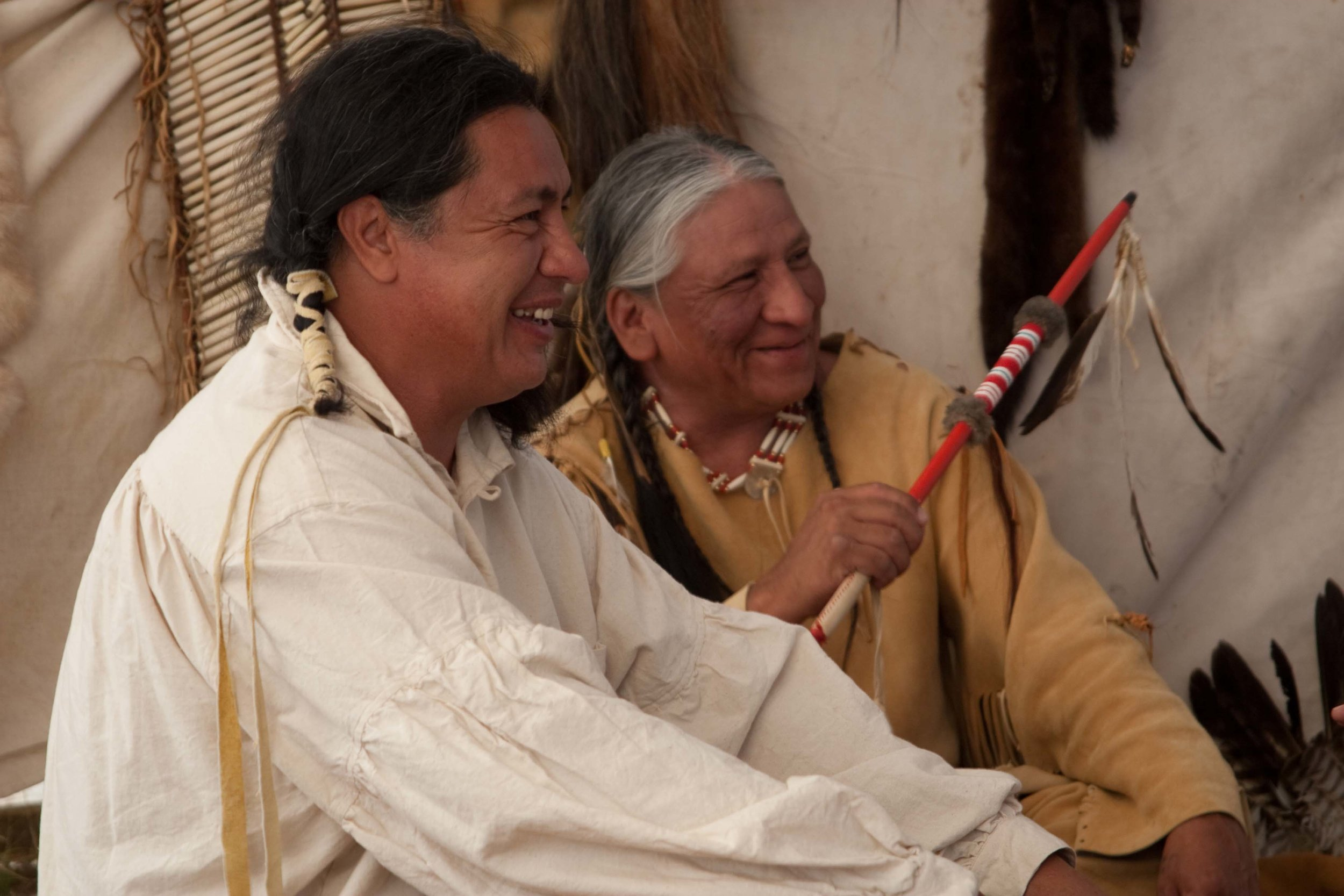 larry-swalley-minor-running-cloud-corbin-conroy-little-thunder-relaxing-and-sharing-a-laugh-between-takes-in-the-teepee-scene.jpg