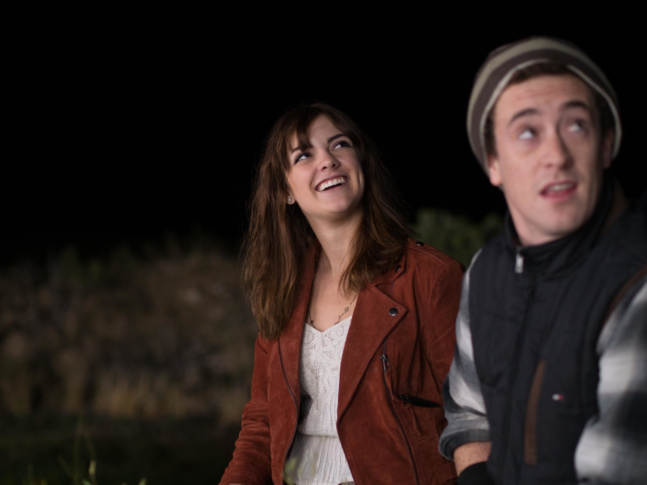 Michelle (Aley Underwood) And Cole (Jacob Grodnik) Enjoy A Moment Outside The Mills.jpg