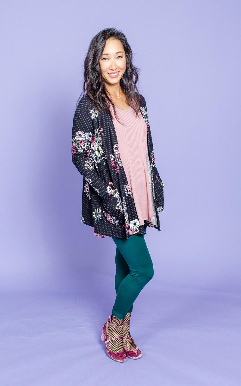 LuLaRoe-Caroline-Mid-Length-Cardigan-with-side-pockets-black-and-pink-floral-and-polka-dots.jpg