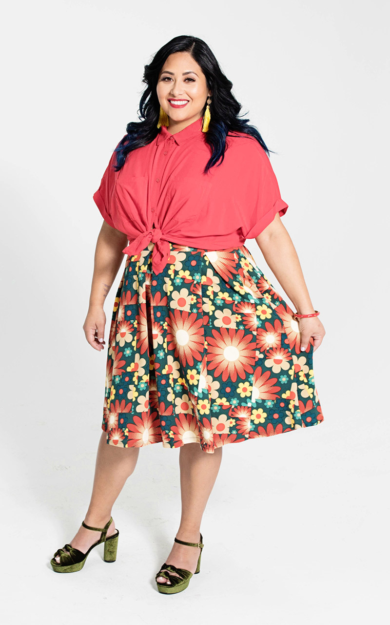 LuLaRoe-Madison-Mid-Length-Skater-Skirt-With-Pockets-red-and-green-floral.jpg