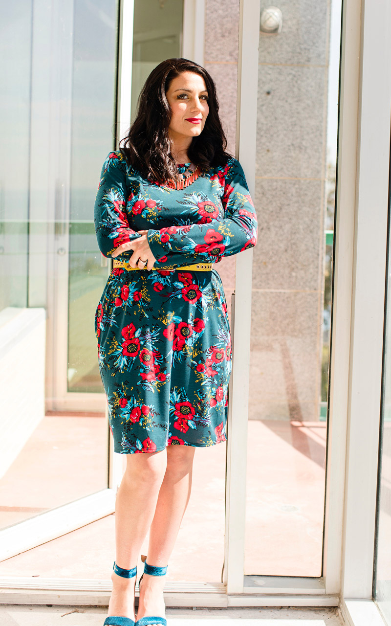 Lularoe-Debbie-Mid-Length-Long-Sleeve-Fitted-Sheath-Dress-green-and-red-flowers.jpg