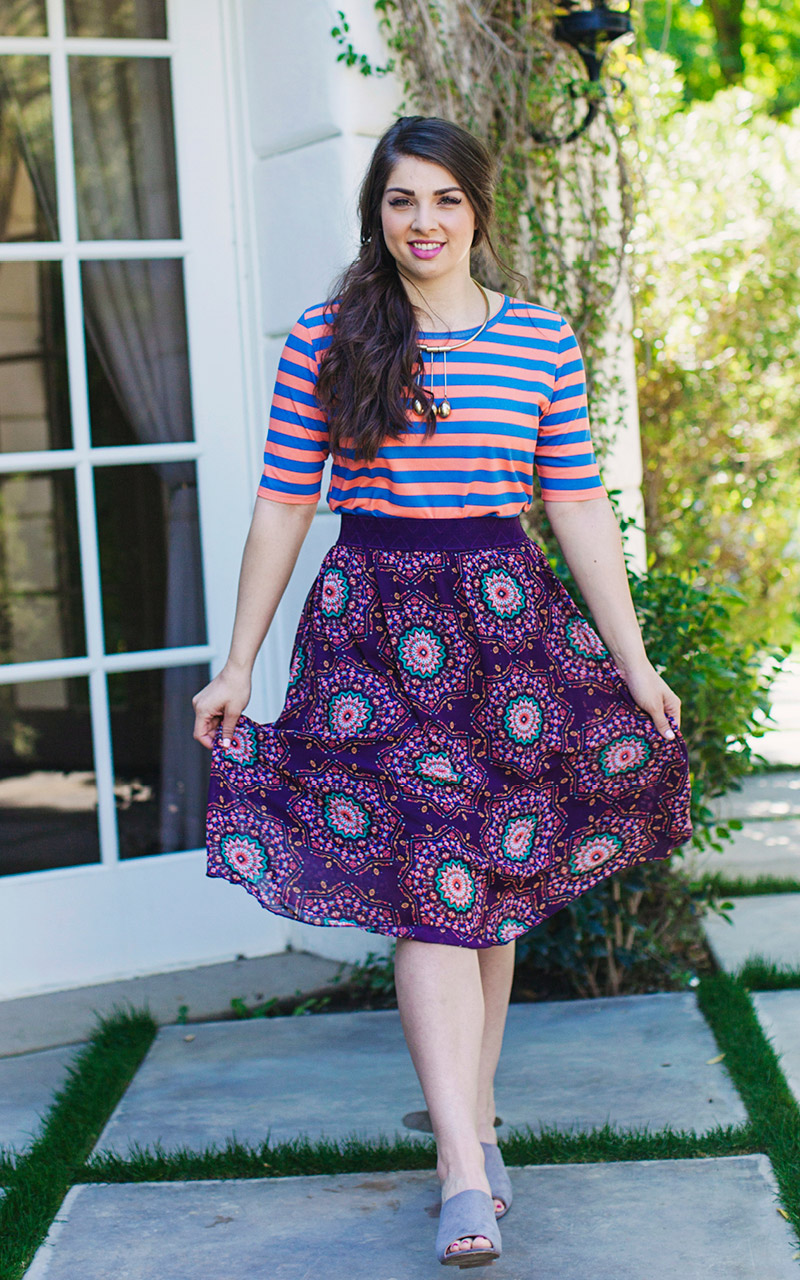 LuLaRoe-Lola-Mid-Length-skirt-with-elastic-waistband-purple-round-flowers.jpg