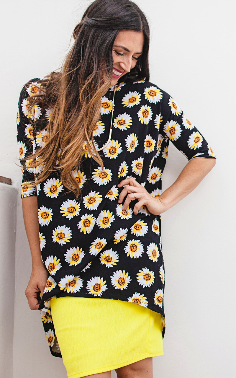 LuLaRoe-Irma-Tunic-high-low-top-black-and-yellow-and-sunflowers.jpg