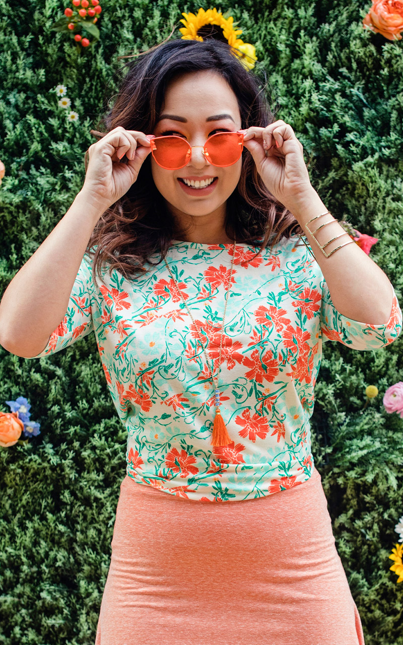 LuLaRoe-Irma-Tunic-high-low-top-green-and-coral-floral.jpg