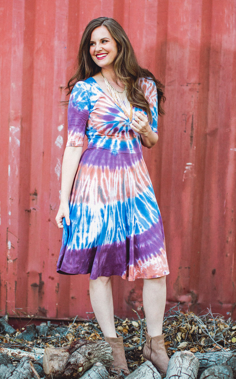 LuLaRoe-Nicole-Mid-Length-Skater-Dress-tie-dye-orange-purple-and-blue.jpg
