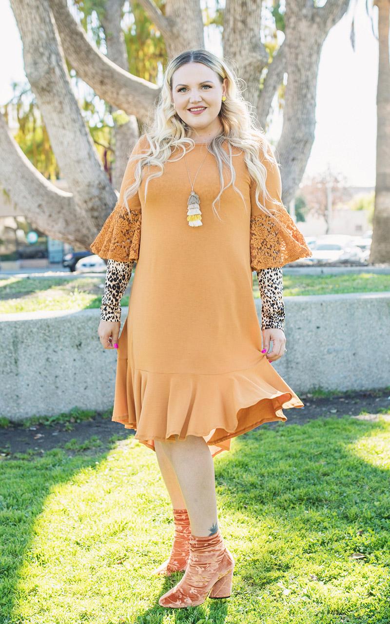 LuLaRoe-Maurine-Bell-Sleeves-Flounce-Dress-orange-lace-sleeves.jpg