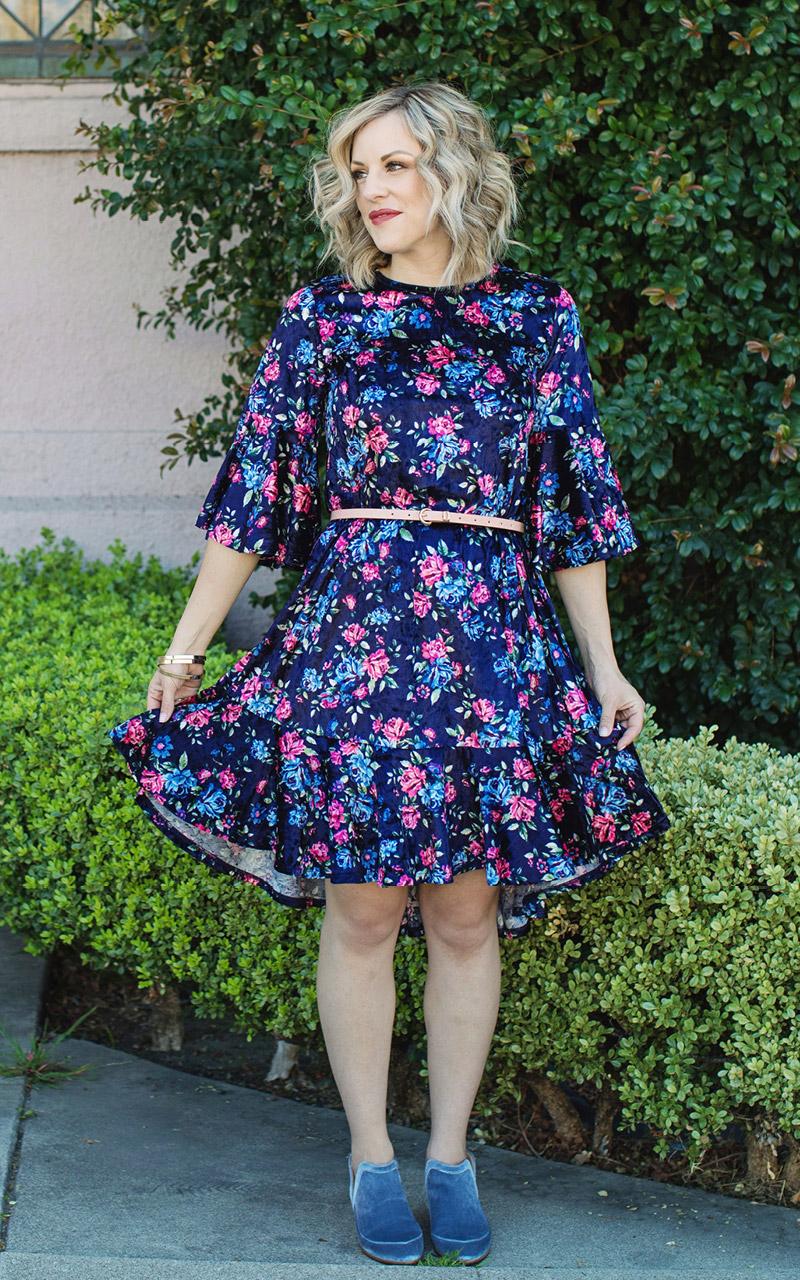 LuLaRoe-Maurine-Bell-Sleeves-Flounce-Dress-navy-and-pink-floral.jpg