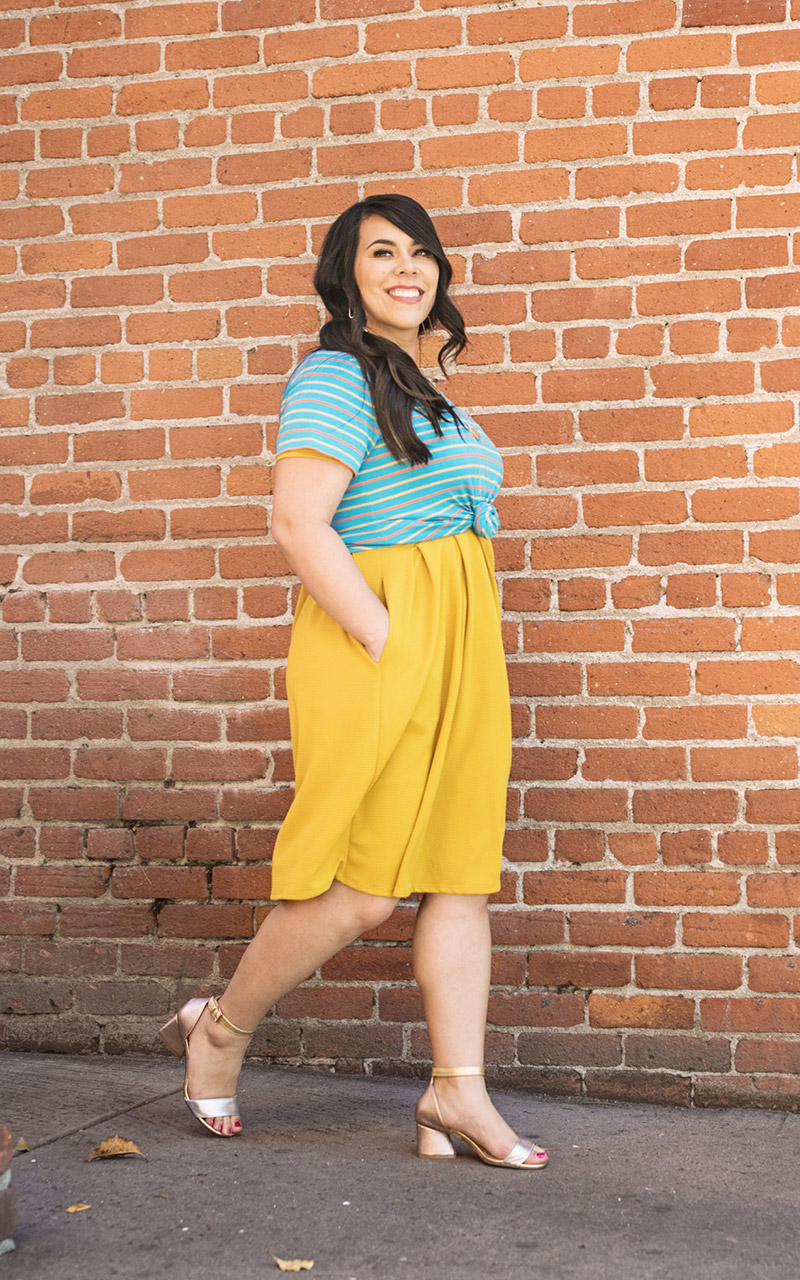 LuLaRoe-Christy-T-shirt-V-neck-blue-yellow-and-orange-stripes.jpg