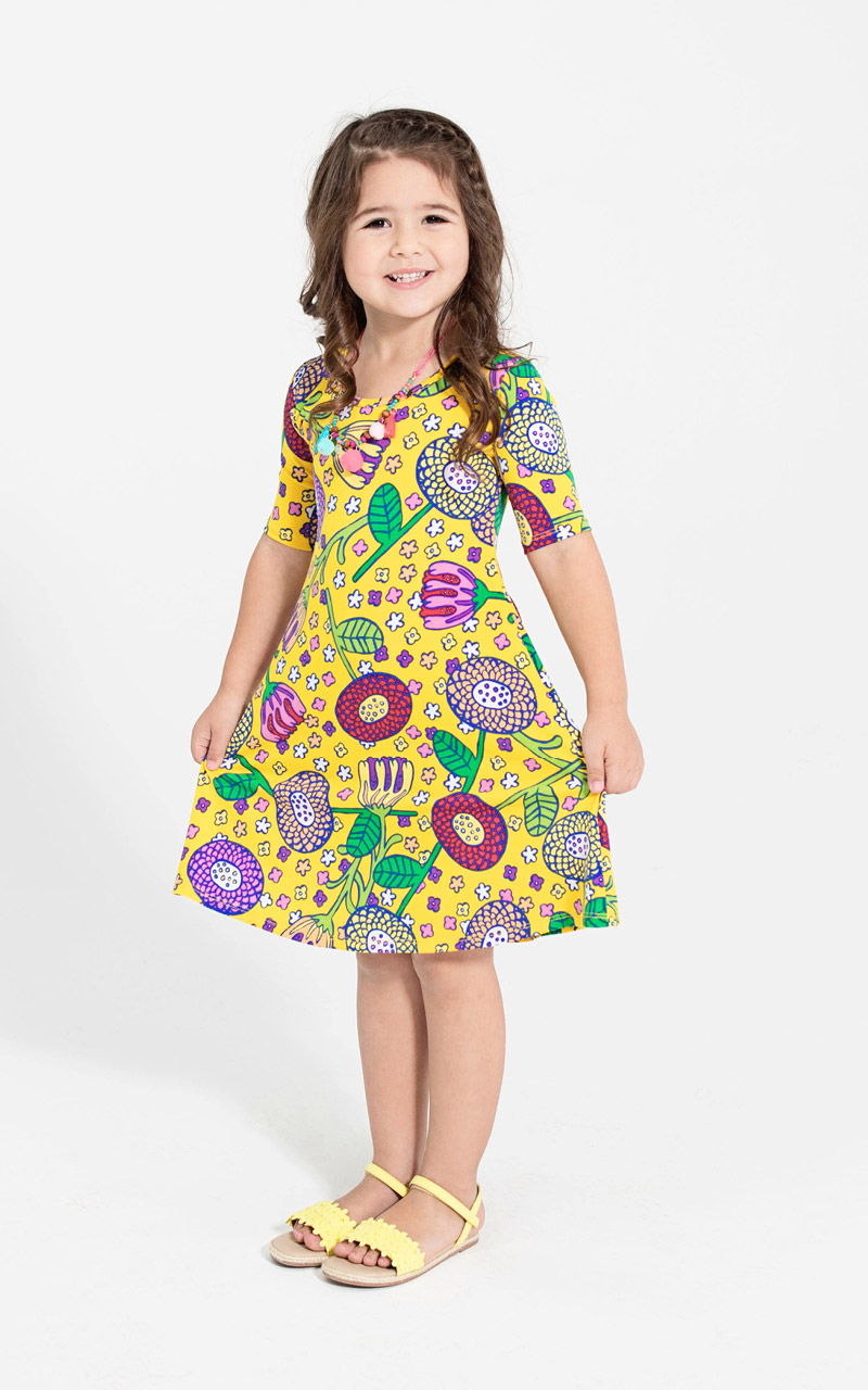 LuLaRoe-Adeline-Girls-Dress-yellow-cartoon-flowers-2.jpg
