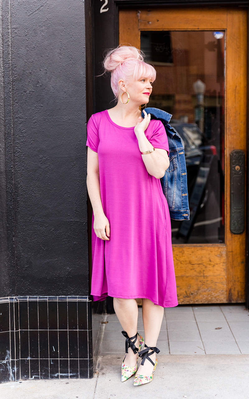LuLaRoe-Jessie-T-Shirt-Dress-With-Pockets-hot-pink.jpg