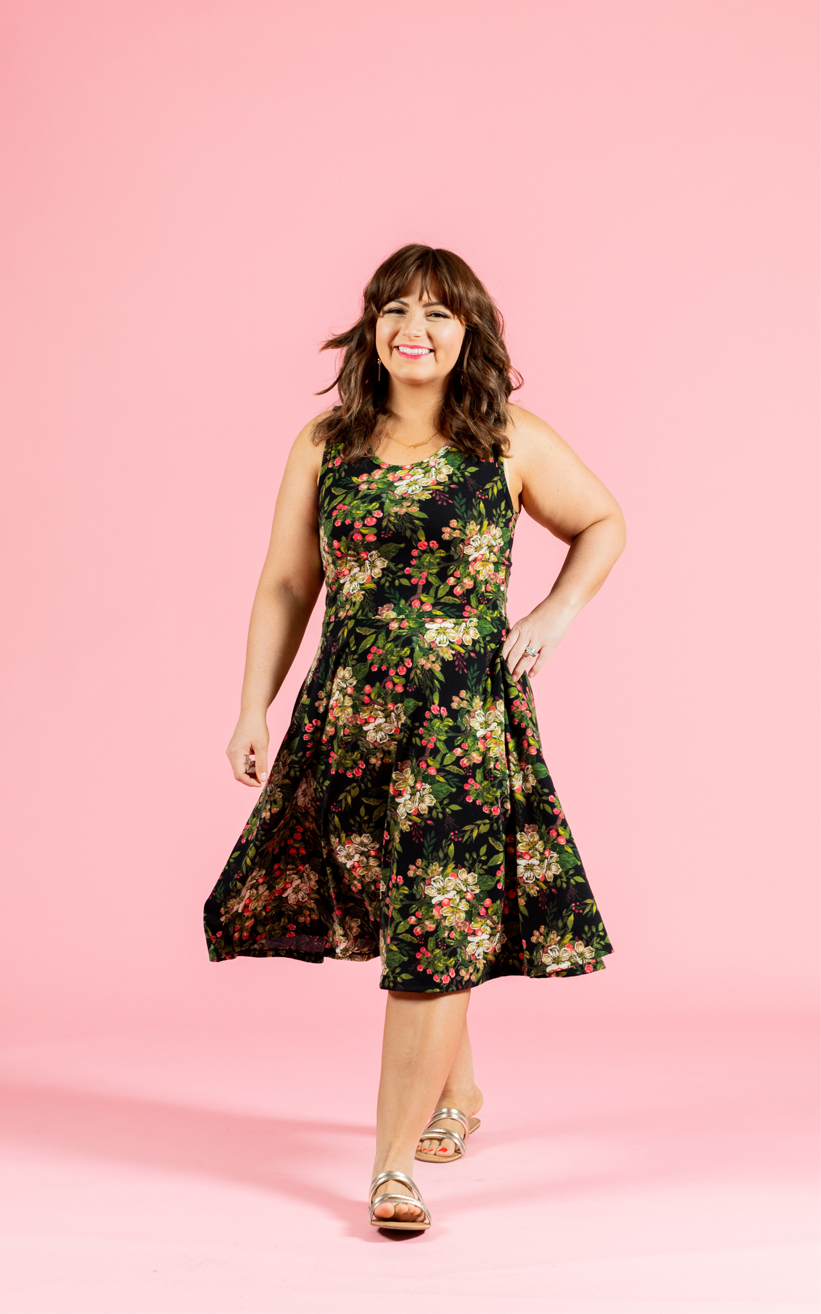 LULAROE-SLEEVELESS-DRESS-NICKI-A LINE SKIRT-BLACK FLORAL.jpg