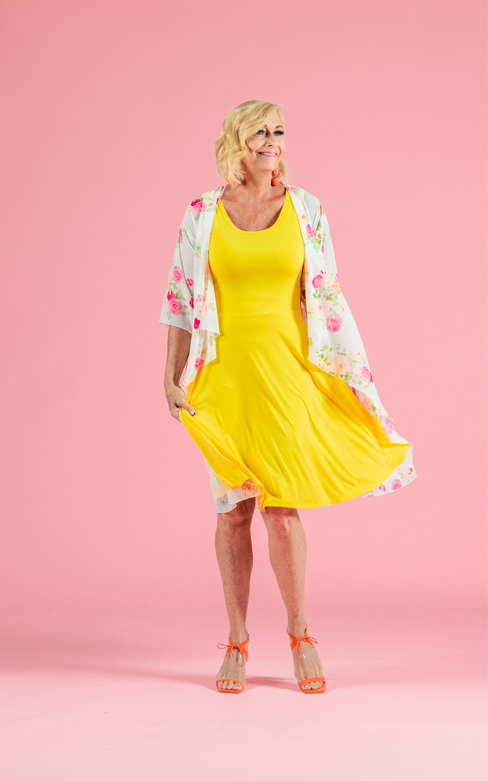 LULAROE-SLEEVELESS-DRESS-NICKI-A LINE SKIRT-BRIGHT YELLOW.jpg