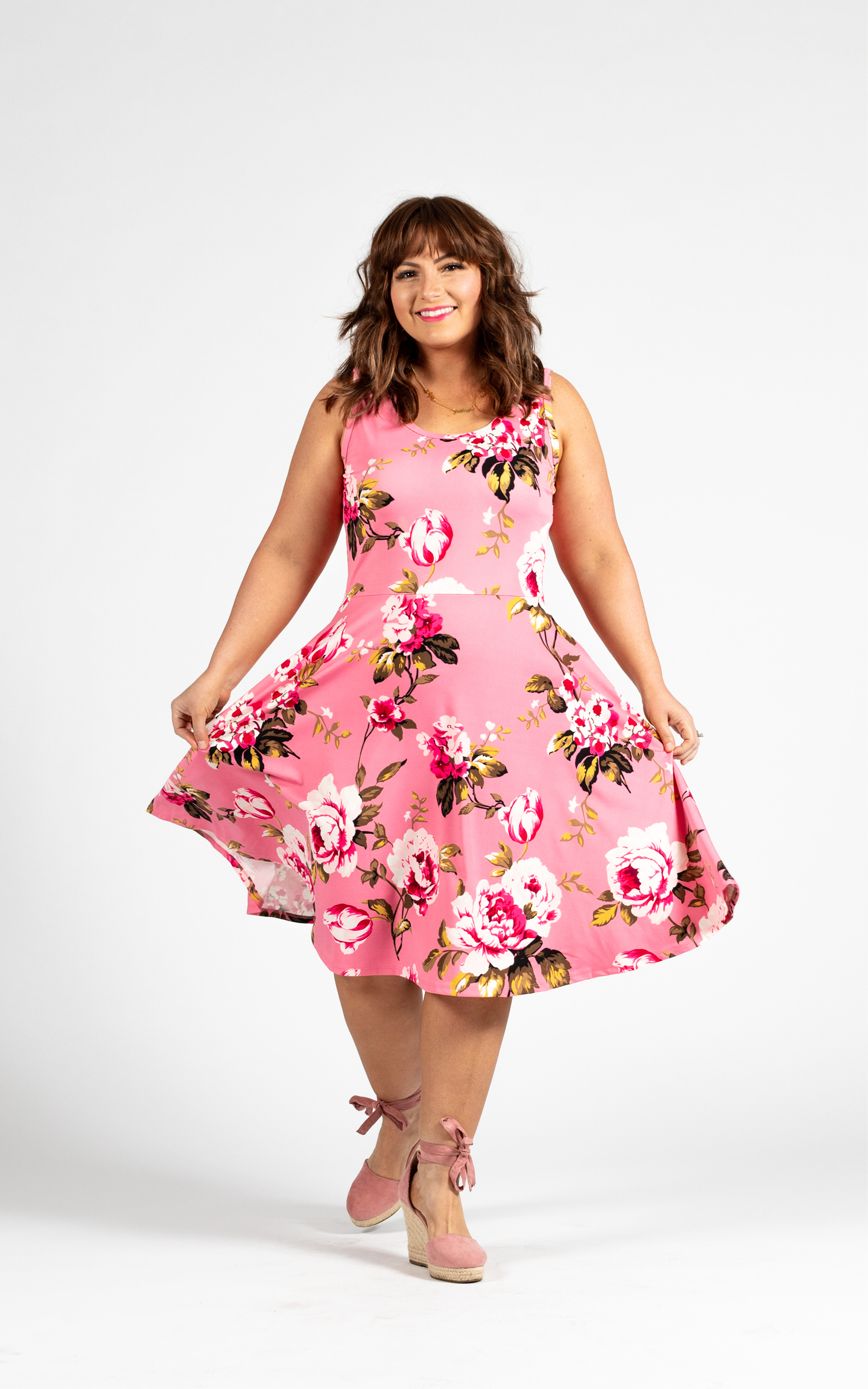 LULAROE-SLEEVELESS-DRESS-NICKI-A LINE SKIRT-PINK-FLORAL.jpg