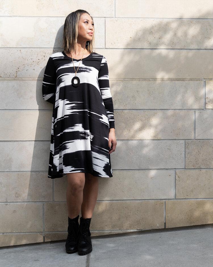 Emily Long Sleeved Swing Dress Lularoe