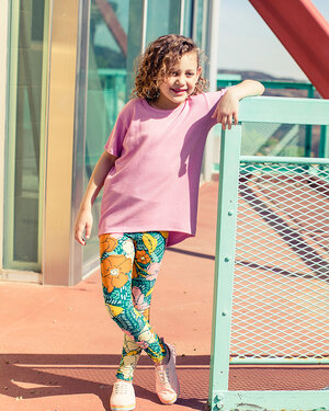 Details about  / BoxE LuLaRoe Kids Leggings L//XL New Black Multicolor Pattern Yellow Triangles