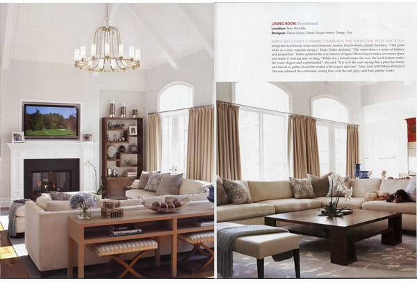 WINNER - BEST TRANSITIONAL LIVING ROOM- WESTCHESTER HOME DESIGN AWARDS!