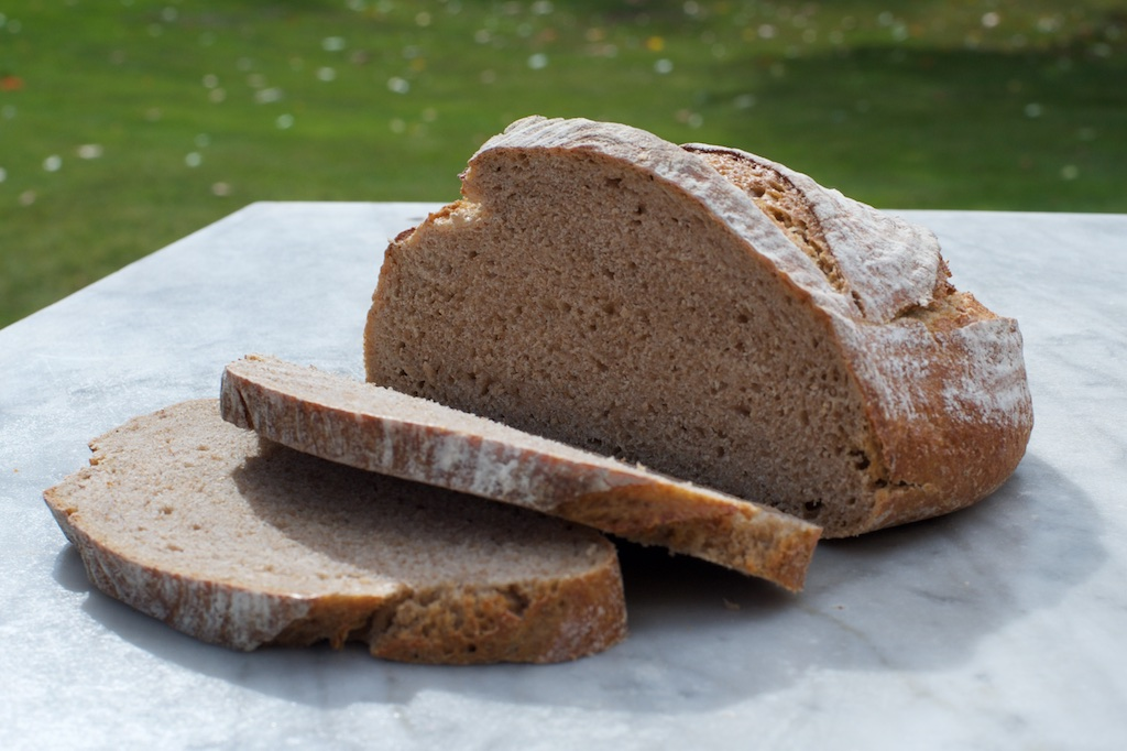 Cambridge Loaf - Wholemeal sourdough made with organic wheat from the Wimpole Estate milled at Foster's Mill in Swaffham PriorAvailable as 1kg & 500g boules