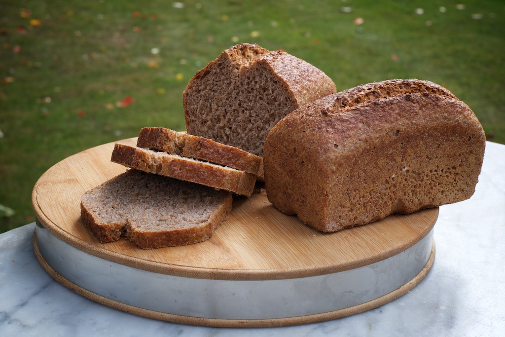 Spelt Sourdough - Wholemeal spelt sourdough made with organic flour from Foster's Mill, with a slightly sweet, nutty taste.Available as an 800g & 400g tin loaf