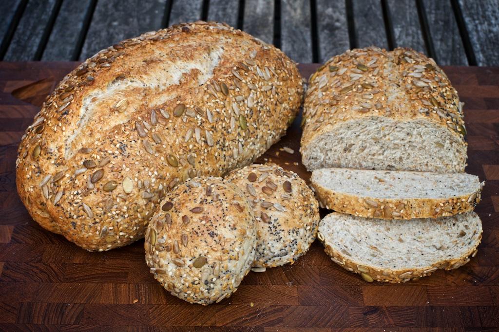 Super Seedy - Light brown bread, packed full of organic pumpkin, sunflower, sesame, poppy & golden linseedsAvailable as an 800g & 400g bloomer