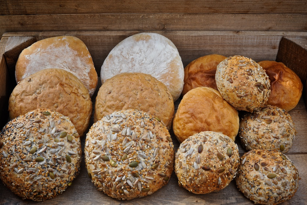 Rolls and Baps - We make white, wholemeal, country malt and super seedy baps and rolls - ideal for lunchtime sandwiches or to accompany soup.Available as 120g baps & 85g rolls