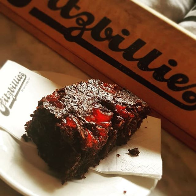 Vegan Brownie now available from #fitzbilliestrumpingtonstreet . we are all super exited about this guilt free treat, pop in for a try! #brownie #vegan #cambridgeuniversity #cambridge #fitzbillies