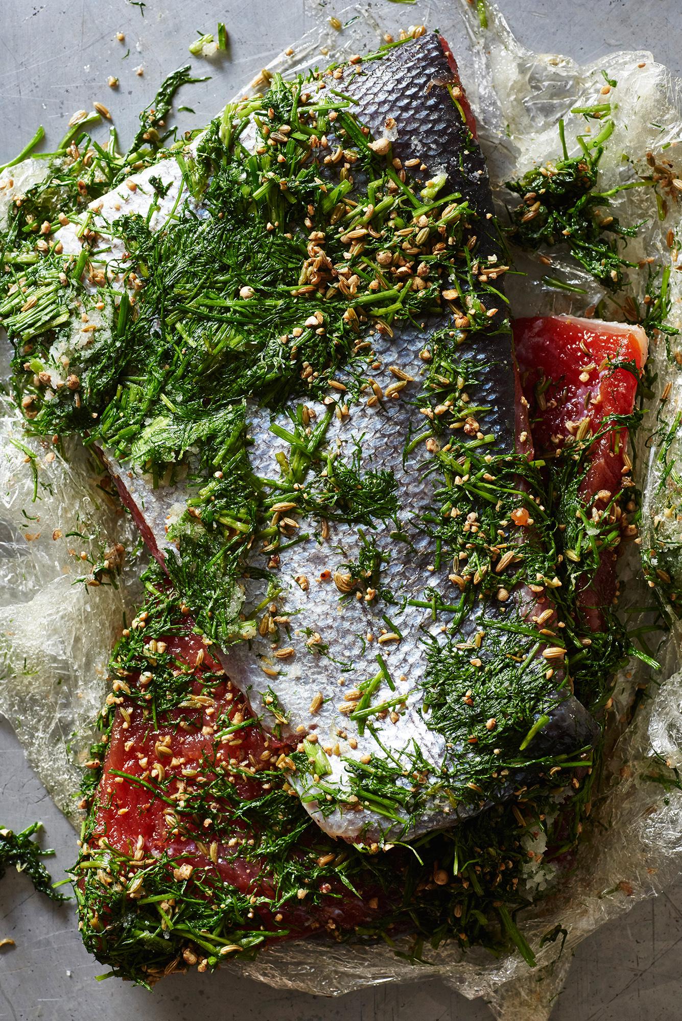 House-made cured wild Alaskan sockeye salmon