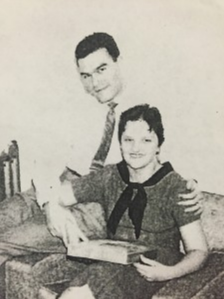 Bob and his wife Mary in 1958.