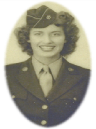 Young Josephine serving in the Women's Army Corps (WAC) -