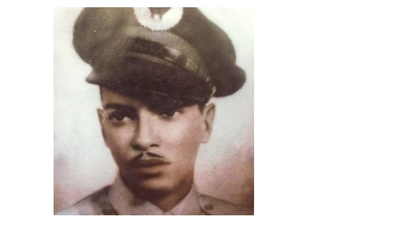 Young George Carper in training to become a venerated Tuskegee Airman.