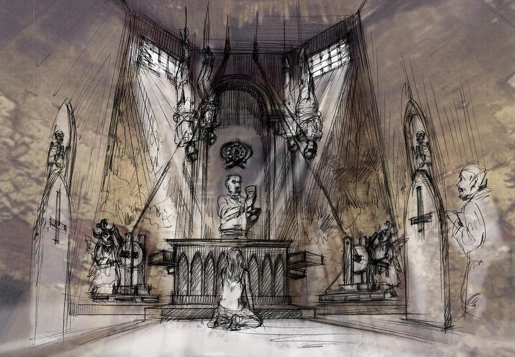 El Santo Chapel Concept Sketch