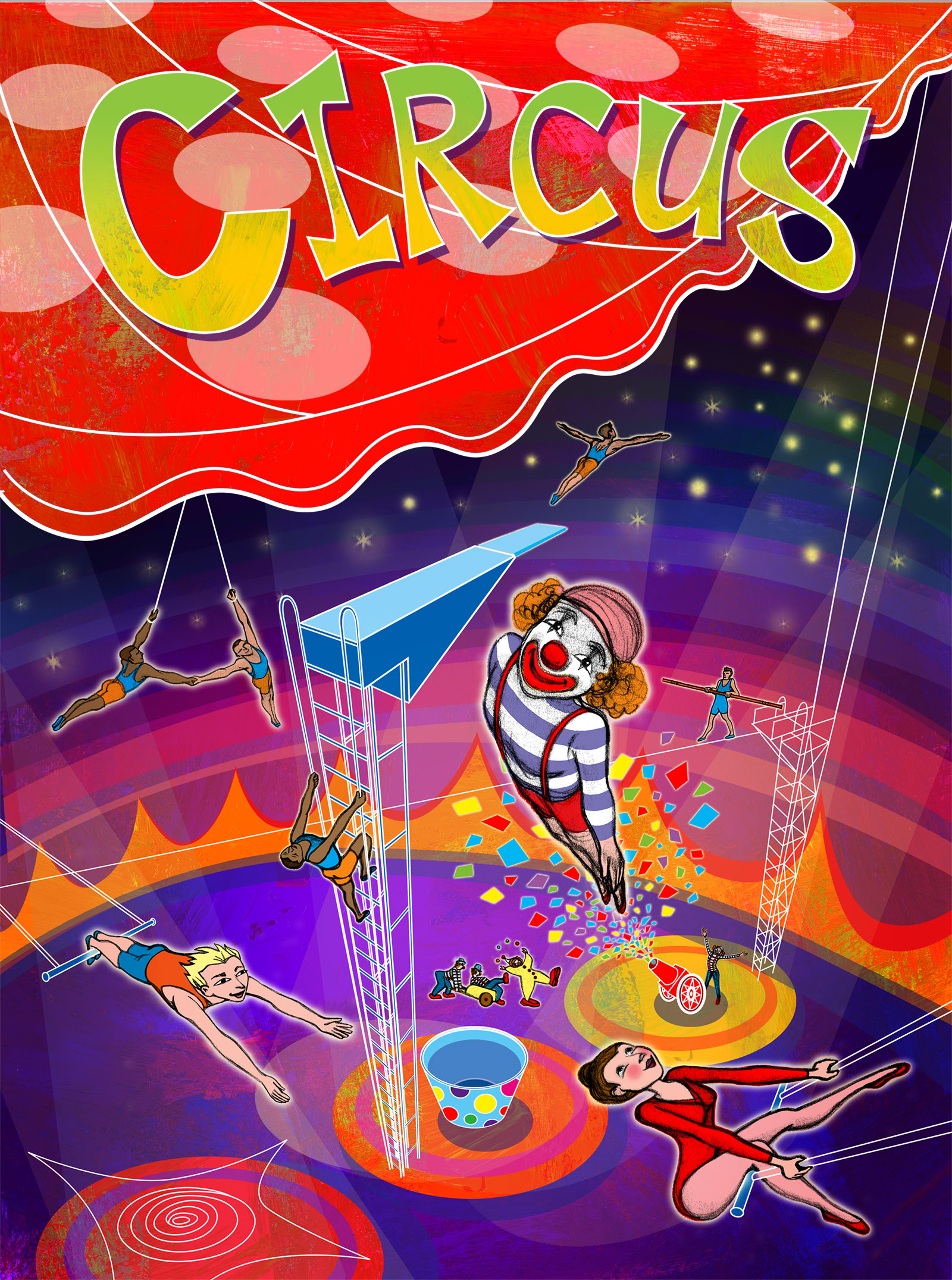 Circus Poster for Barney & Friends