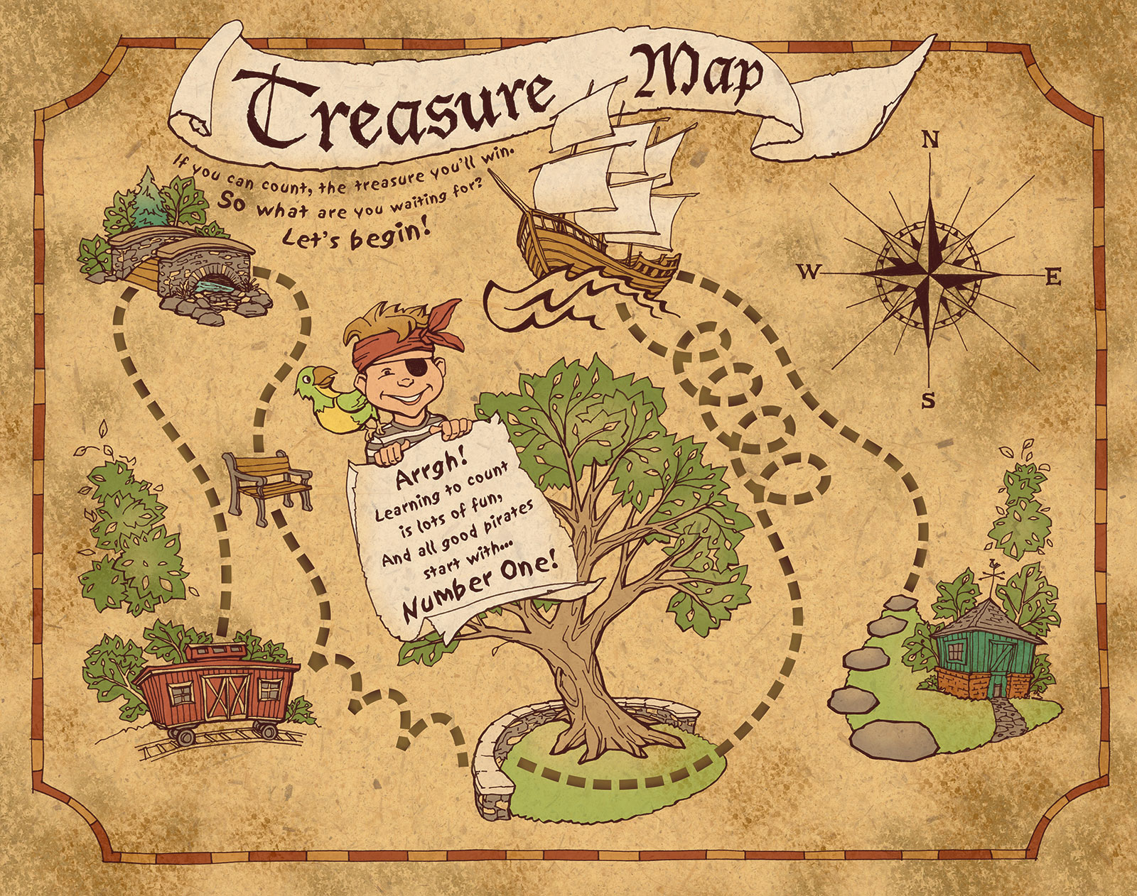 Treasure Map for Barney & Friends