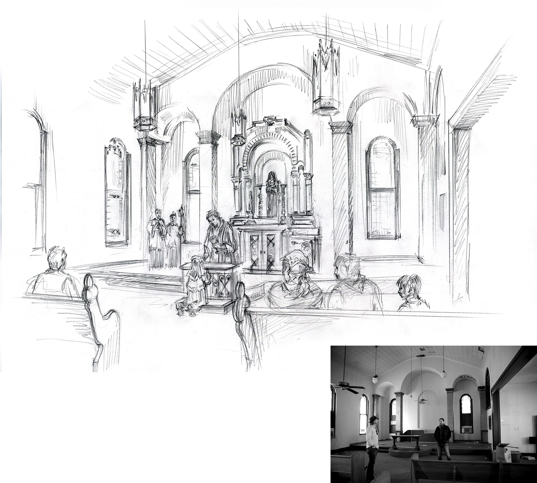 Church Concept Sketch