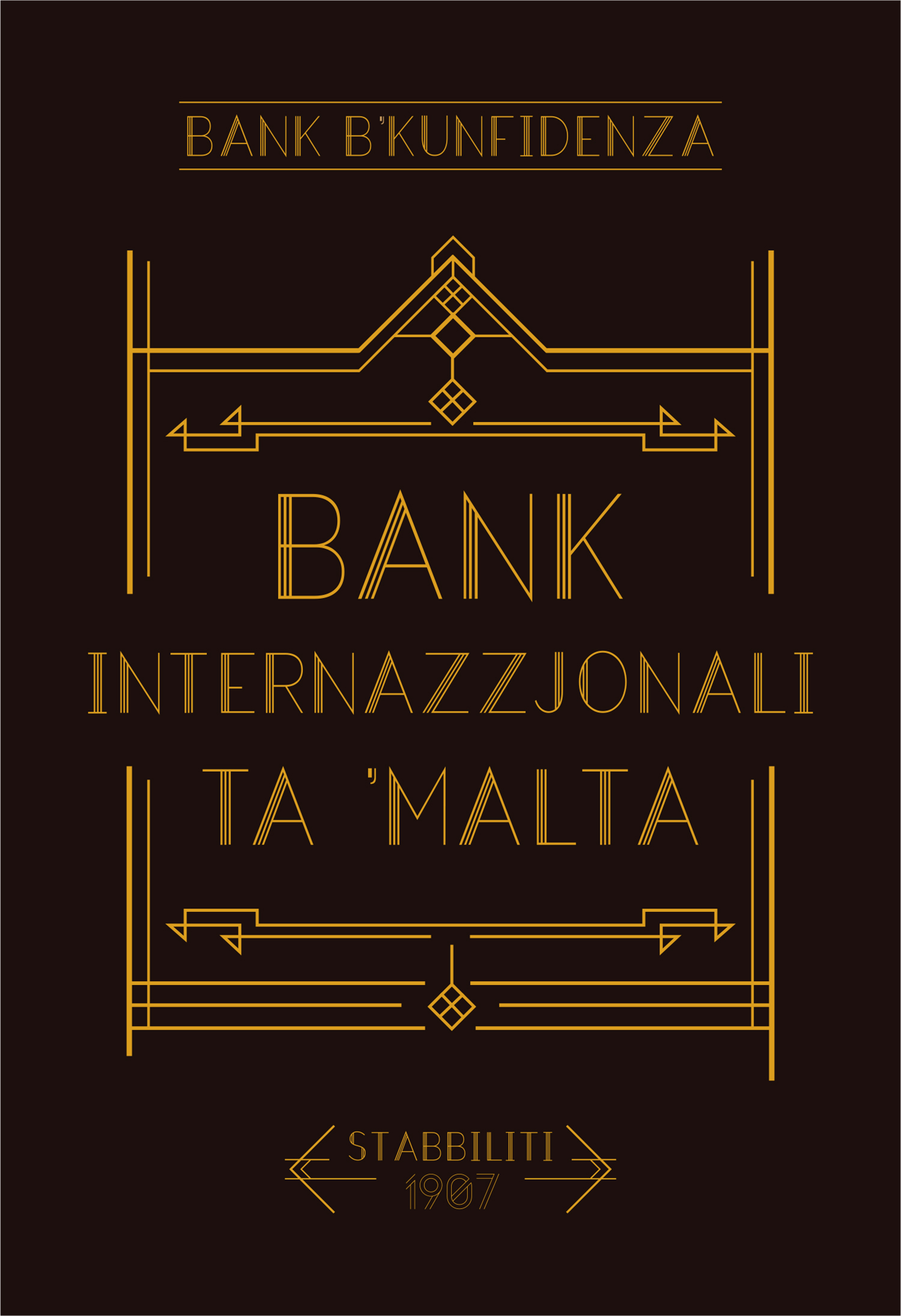 Malta Bank Sign