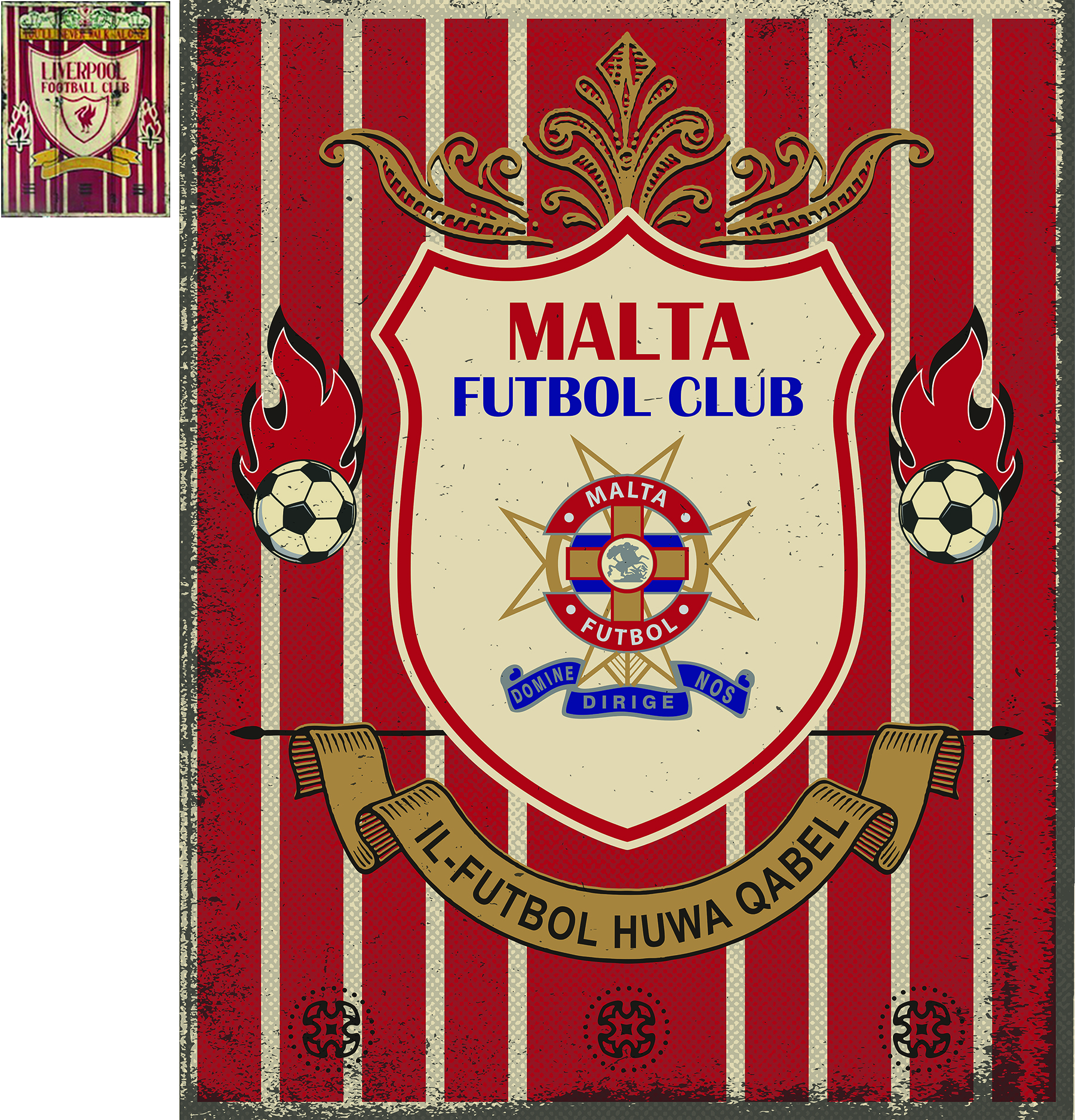 Malta Football Sign